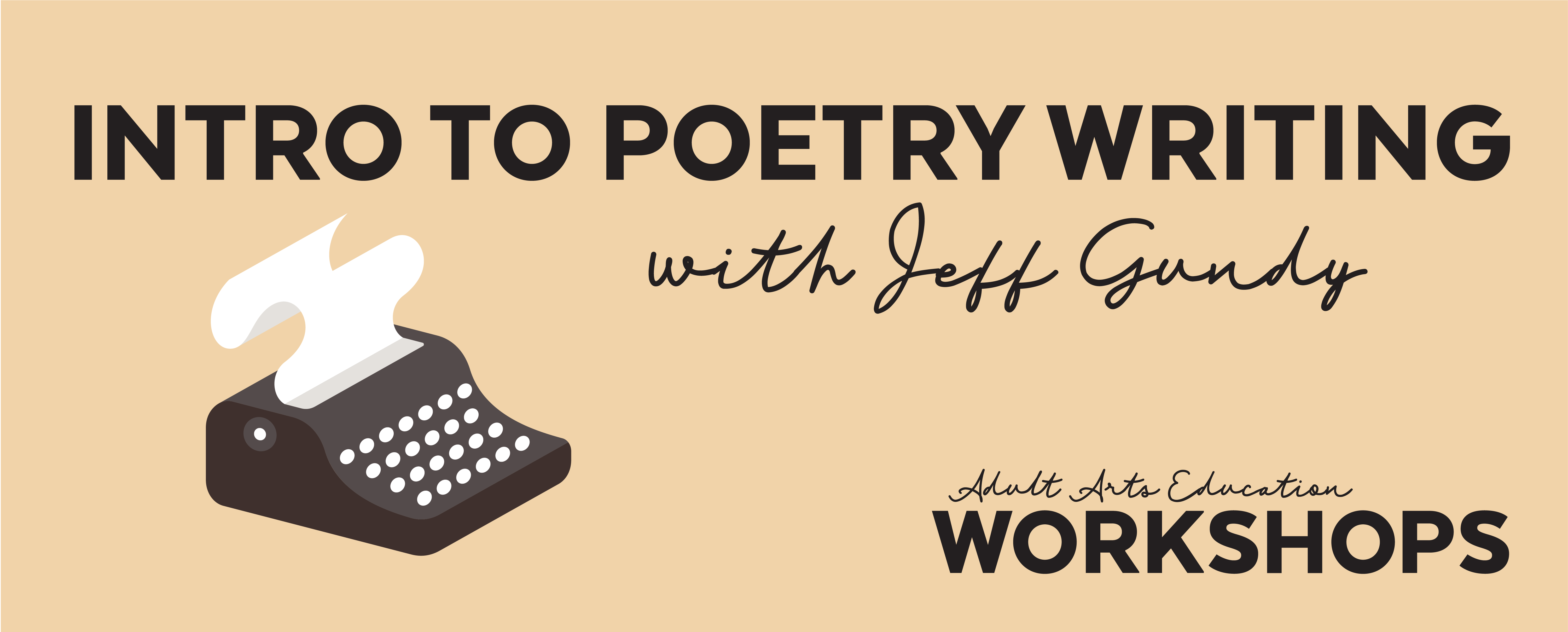 Intro to Poetry Writing with Jeff Gundy